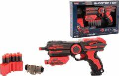 TackPro Tack Pro Shooter 2 14 Darts Blaster 23cm + Accesoires Zwart/Rood (darts incl)