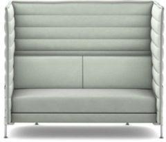 Vitra Alcove Highback 2-Sitzer Sofa - Credo creme/ delfin