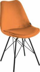 Interwonen - Eetkamerstoel Milan - Velvet - Oranje