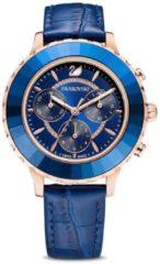 Blauwe Swarovski horloges Swarovski 5563480 - Octea Lux Chrono - Blue - horloge