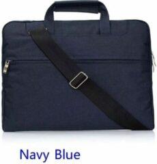 H.K. Laptop tas donkerblauw geschikt voor 11-12 inch