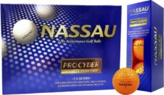 Nassau Pro Cyber - Golfballen - 12 stuks - Oranje