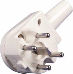 Grijze Universeeel Q-Link Perilex 5-pins (m) haakse stroomstekker / beige
