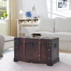 Bruine VidaXL Schatkist vintage 66x38x40 cm hout