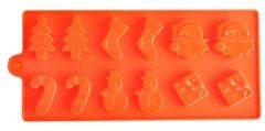 Rode Leukste Winkeltje Chocoladevorm mal kerst siliconen vorm voor ijsblokjes ijsklontjes chocolade fondant - LeuksteWinkeltje