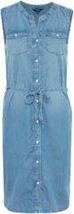 TOM TAILOR TOM TAILOR Damen Ärmelloses Jeans-Kleid mit Gürtel, Damen, blue denim, Größe: 40, blau, unifarben, Gr.40