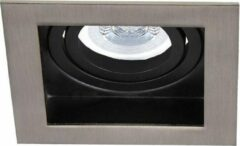 Zilveren HOFTRONIC Dimbare LED inbouwspot Modesto 5 Watt 2700K warm wit Kantelbaar