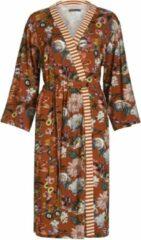 Bruine Essenza Valt normaal Essenza Home Dames Nachtmode kimono Maat L