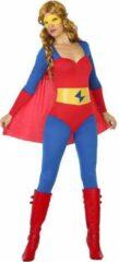 BigBuy Carnival Verkleedkleding voor volwassenen - Super Girl Blue Red