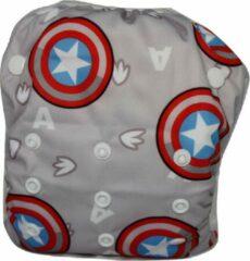 Blije Billetjes Exclusief!! Wasbare Zwemluier Groot Captain America