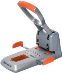 Perforator groot vermogen 2 gaten Duax Rapid - capaciteit 150 vellen - zilver/oranje