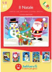 Sabbiarelli Zandschilderen Album Kerstmis 15x20 cm 5 stuks