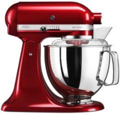 Rode KitchenAid Keukenmachine Artisan 5KSM150PSECA, tomaatrood, incl. extra accessoires ter waarde van ca. € 214,