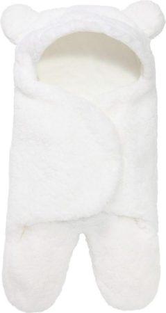 Afbeelding van MINIIYOU® Zachte witte teddy beer Inbakerdoek | Slaapzak pasgeboren baby - newborn | Voering: 100% Katoen | Licht & Luchtig | Geschikt voor in maxi cosi en kinderwagen | Baby 0-2 maanden