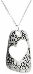 Zilveren Puik Prachtige vintage ketting - hart