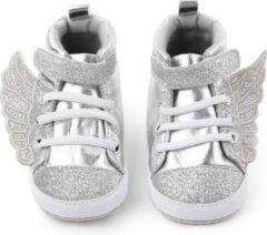 Supercute - baby sneakers - Wings - zilver - 12 t/m 18 maanden - maat 22/24
