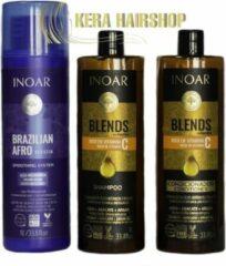 Inoar Keratine Inoar Afro Keratine Met Blends Shampoo & Conditioner 1000 ML