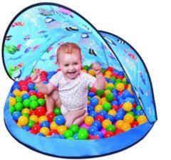 Blauwe Paradiso Toys tent plus ballen blauw
