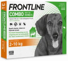 Merial Frontline Combo - S: van 2 tot 10 kg - Anti vlooienmiddel en tekenmiddel - Hond - 3 pipetten