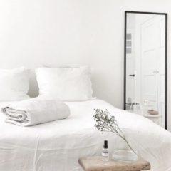 Coco & Cici zacht, luxe en duurzaam beddengoed - dekbedovertrek - tweepersoons - 200 x 200 - wit