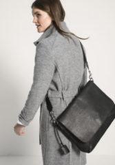 Hessnatur Damen Unisex Tasche aus Leder – schwarz – Größe 1size