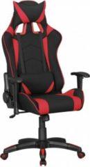 AMSTYLE ® Bürostuhl SCORE Stoffbezug Schwarz / Rot Schreibtischstuhl Chefsessel Gaming Chair Drehstuhl Sport Racing Optik