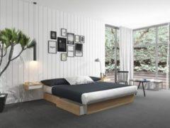 Silversleep Wasserbett mit Stauraumsockel, 140 x 200 cm, Mono - System, buche, schwach beruhigt