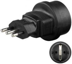 CEE 7/4 jack auf Italien-Stecker<br>Stromadapter - Goobay