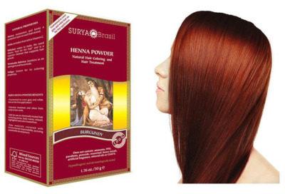 Afbeelding van Bordeauxrode Surya Brasil Haarverf Henna Poeder Bordeaux Rood 50 gram