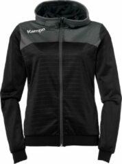Kempa Emotion 2.0 Hooded Sportjas - Maat L - Vrouwen - zwart/grijs