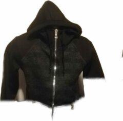 Merkloos / Sans marque Zwart met grijs strepen vest