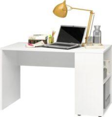 Baidani CS Schmal Schreibtisch P82 500 Weiß 120x60x73cm (B/T/H)