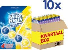 Witte Reus Toiletblok - Kracht Actief Citrus - Voordeelverpakking - 10 stuks