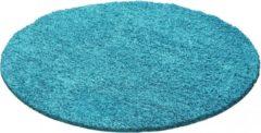 Himalaya Dream Rond Shaggy vloerkleed Turquoise Hoogpolig- 120 CM ROND