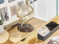 Beliani PIZARRO - Globe - Beige - Synthetisch materiaal