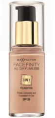 Max Factor Make-Up Gesicht All Day Flawless 3 in 1 Foundation Nr. 80 Bronze 30 ml