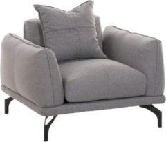 CLP Design Sessel LUCIEN mit Stoffbezug, dicke Polsterung und breite Sitzfläche, langlebiger Sitzkomfort