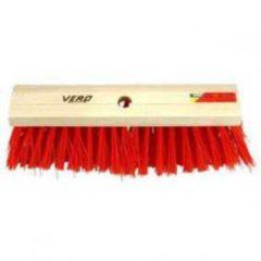 Rode Vero stadsbezem harde kunstvezels 41 cm