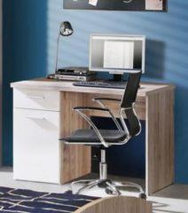 Schreibtisch weiss mit Sandeiche FORTE MÖBEL Winnie