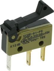 Philips, Saeco, Senseo Saeco Mikroschalter (gelb, mit 3 Anschlüssen und Hebel) für Kaffeemaschine NE05038