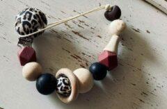 Bruine Merkloos Pretty Sweetheart ** SiNT Kado TIP** / Speenkoord Leopard Delight