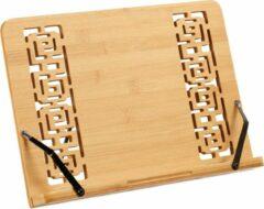 Relaxdays kookboekstandaard - bamboe - kookboekhouder - opvouwbaar - verstelbaar