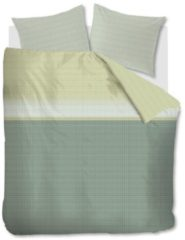 Groene Beddinghouse Bardot dekbedovertrek - 100% katoen - Lits-jumeaux (240x200/220 cm + 2 slopen) - Green