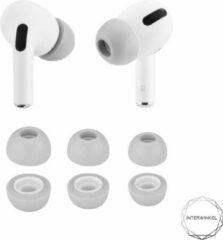 Airpods pro foam tips Interwinkel - Apple - In ear -Memory foam - 3 paar - Oordopjes - Sport - Saund isolation - Grijs - Maat M