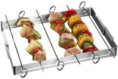 Grillspieße mit Halter BBQ Style GEFU Silber