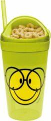 Zak!Designs Smiley 2.0 Snack & Drinkbeker - Polypropyleen - 300 ml - Glasses - Groen