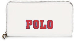 Witte Ralph Lauren Heuptas van leer met logo