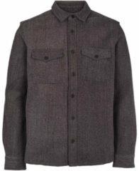 Grijze Kronstadt Overhemd kurt ks3224 charcoal