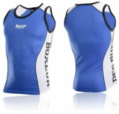 Blauwe Boxeur Des Rues Slinky BoxIng Tank With Side Mesh Insert