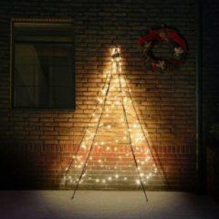 Zwarte Fairybell muurboom 180 lampjes warmwit - 200 CM